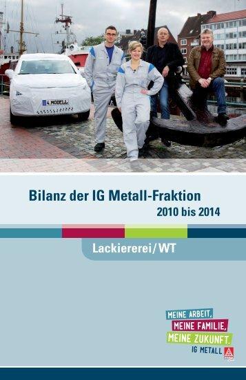 Bilanz der IG Metall-Fraktion