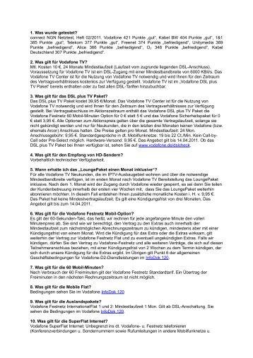 1. Was wurde getestet? connect NGN Netztest, Heft 02/2011 ...