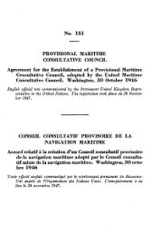 Agreement for the Establishment of a Provisional Maritime - IMO