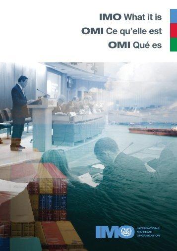 What it is - International Maritime Organization