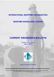 CURRENT AWARENESS BULLETIN - IMO