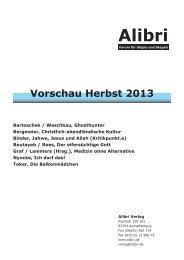 Vorschau Herbst 2013.indd - Alibri Verlag