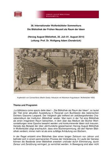 Deutsch - Herzog August Bibliothek Wolfenbüttel