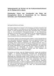Wortlaut der Rede - Evangelische Kirche in Deutschland