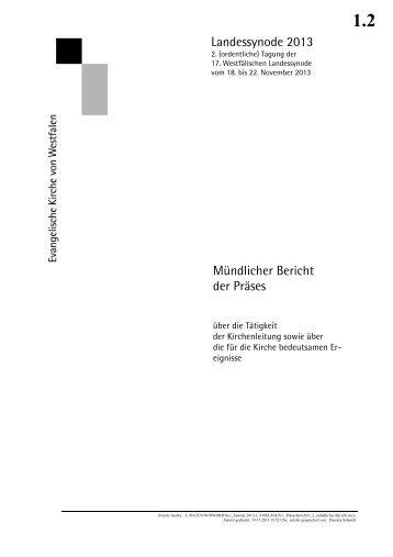 Mündlicher Bericht - Evangelische Kirche von Westfalen