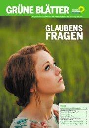 Grüne Blätter 4/13: Glaubensfragen (PDF) - BÜNDNIS 90/DIE ...