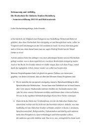 Semestereröffnung 2013/14 und Rektoratsrede - Hochschule für ...