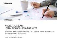wacker academy - Imove-germany.com
