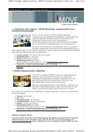 Page 1 of 2 iMOVE Training - Made in Germany - iMOVE Newsletter ...