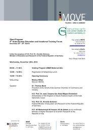 4th Arab-German Education and Vocational Training Forum - iMOVE