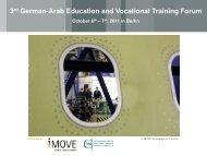 3rd German-Arab Education and Vocational Training Forum - iMOVE