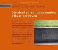 Herdenken en monumenten sterk met elkaar verweven - Impact