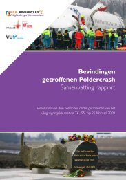 Bevindingen getroffenen Poldercrash Samenvatting rapport - Impact
