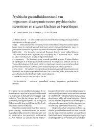 Psychische gezondheidstoestand van migranten ... - Impact