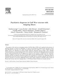 Psychiatric diagnoses in Gulf War veterans with fatiguing ... - Impact