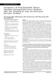 Frequency of Post-Traumatic Stress Disorder among Relief ... - Impact