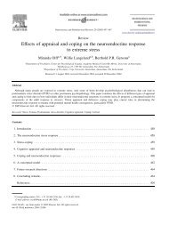Effects of appraisal and coping on the neuroendocrine ... - Impact