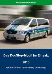 Das DocStop-Mobil im Einsatz 2013