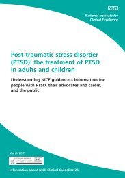 Post-traumatic stress disorder - Impact