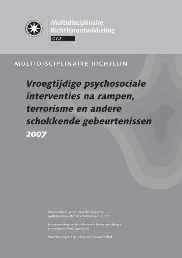 richtlijn Vroegtijdige psychosociale interventies na rampen - Impact