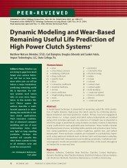 Dynamic Modeling and Wear-Based Remaining Useful Life ...