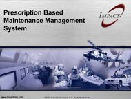 Prescription Based Maintenance System Overview Presentation