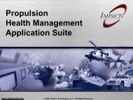 Propulsion Health Management Application Suite Presentation