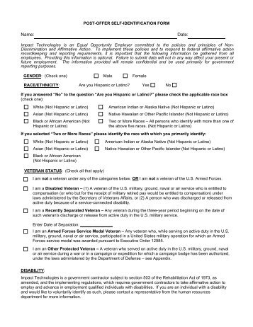 Prospective Employees Self Identification Form - Dalhousie University