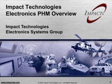 ePHM Overview - Impact Technologies