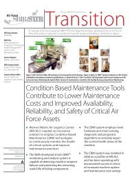 Condition Based Maintenance Tools Contribute to ... - AF SBIR/STTR