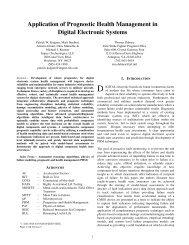 Application of Prognostic Health Management in Digital Electronic ...