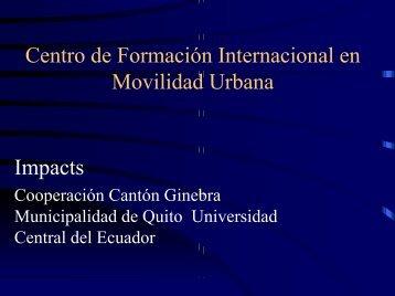 centro de formación internacional en movilidad urbana - IMPACTS