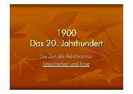 1900 Das 20. Jahrhundert - Impariamo il tedesco