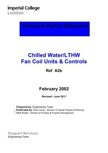Wall Mounted Chilled Water Fan Coil Unit G Series