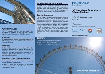 14th International Symposium on Tubular Structures - Imperial ...