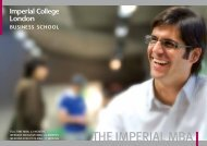 The ImperIal mBa - Imperial College London
