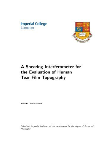 Alfredo Dubra's PhD thesis - Imperial College London