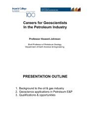 Careers for Geoscientists In the Petroleum Industry PRESENTATION ...