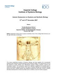 Autumn Symposium programme 2007 - Imperial College London