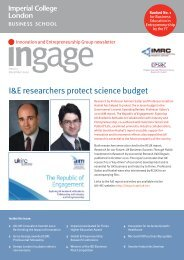 Ingage (Dec 2010) - Imperial College London