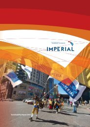 Sustainability Report 2010 - Imperial