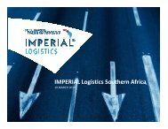 IMPERIAL Logistics Southern Africa