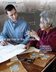 2009 Summary Corporate Citizenship Report - Imperial Oil
