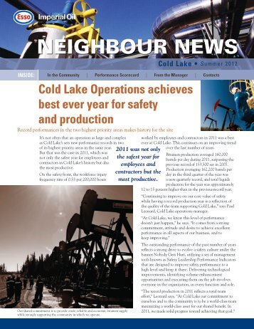 Cold Lake operations - Imperial Oil