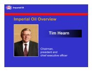 Tim Hearn Imperial Oil Overview