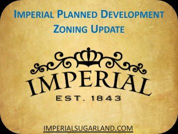 Thursday April 14, 2011 - Imperial Zoning Presentation