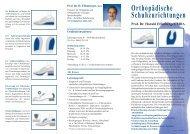 Orthopädische Schuhzurichtungen