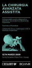 LA CHIRURGIA AVANZATA ASSISTITA - Implantologia Italia