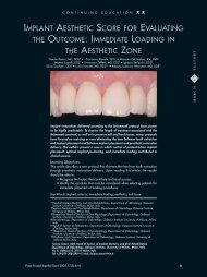implant aesthetic score for evaluating the outcome - Lake Como ...