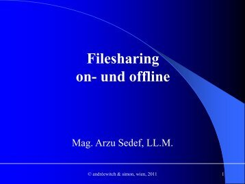 Filesharing on- und offline